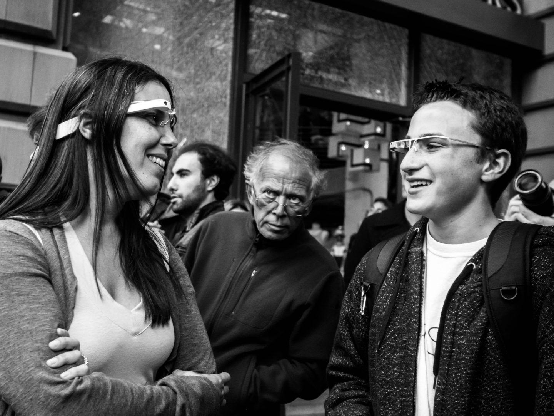Conoce gente con Google glass